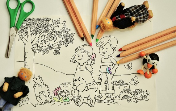 Children's world of drawing and painting