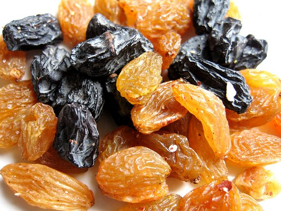 Dried apricots and prunes