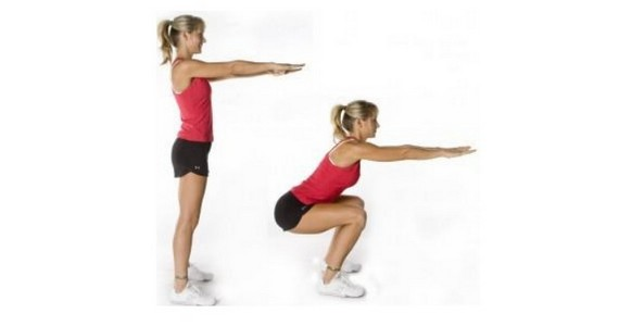 Squat jumps exercise