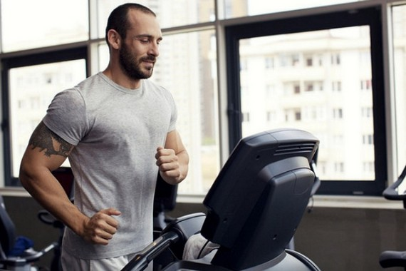 Cardio workout on treadmill