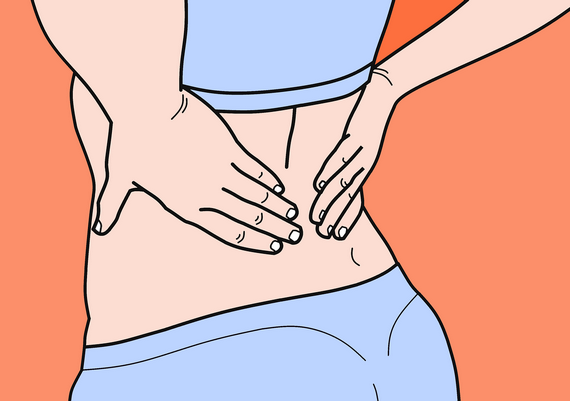 Back pain caused by sport and exercise