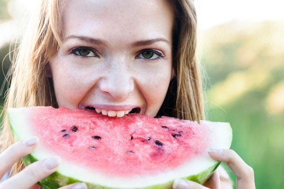 Watermelon can benefit the teeth