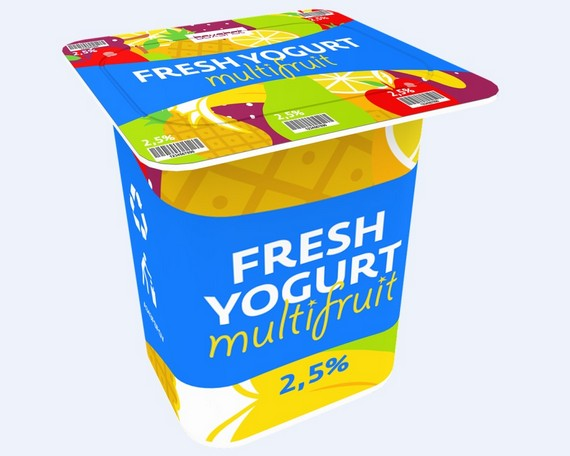 Fresh yoghurt multifruit packaging design