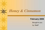Honey and Cinnamon Uses