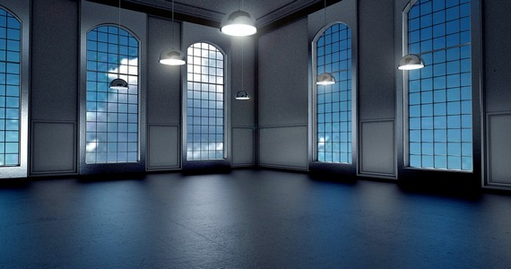 an empty room to use to make moving an exercise