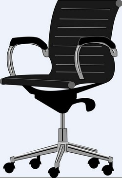 An illustration of ergonomic chair