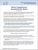 Dietary Supplements Attacked by the Media
